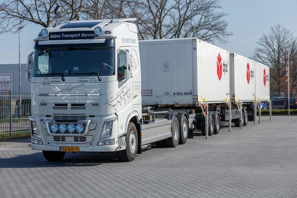 BDF wissellaadbakken van Rebro Transport